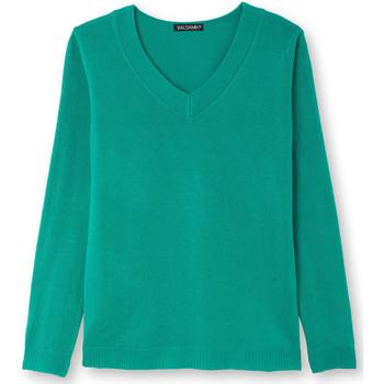 Vêtements Femme Pulls Balsamik Pull V manches longues vert