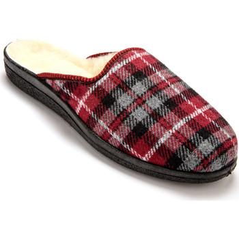 Chaussures Homme Chaussons Honcelac Mules mixtes fourrées laine majoritaire ecossaisbordeaux