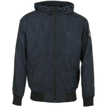 Vêtements Homme Blousons Calvin Klein Jeans Bomber Essential Hooded bleu