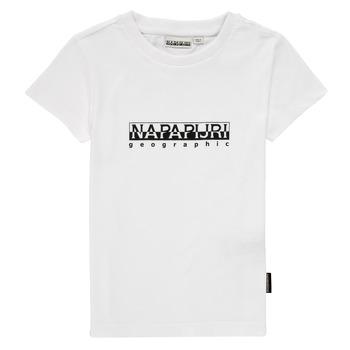 Vêtements Garçon T-shirts manches courtes Napapijri S-BOX SS Blanc