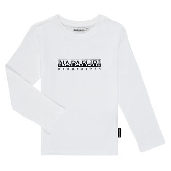 Vêtements Garçon T-shirts manches longues Napapijri S-BOX LS Blanc