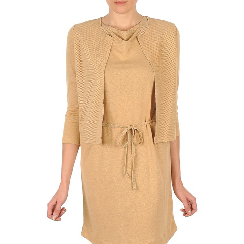 Vêtements Femme Gilets / Cardigans Majestic BERENICE Beige