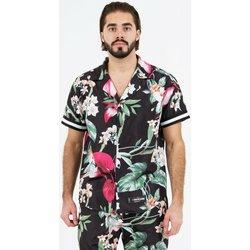 Vêtements Homme Chemises manches courtes Sixth June Chemise  tropical noir