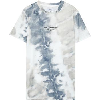 Vêtements Homme T-shirts manches courtes Sixth June T-shirt  tie dye beige