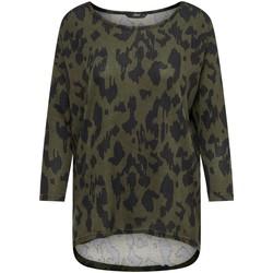 Vêtements Femme T-shirts manches longues Only T-shirt femme  onlelcos 4/5 aops grape leaf black animal