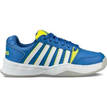Chaussures Enfant Tennis K-Swiss Chaussures enfant  ks tfw court smash bleu foncé/jaune/blanc