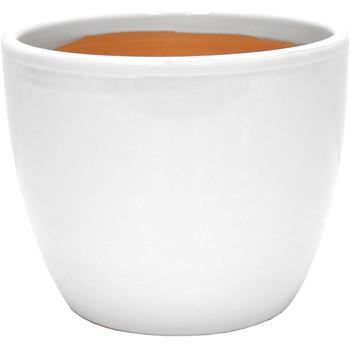 Maison & Déco Vases, caches pots d'intérieur Décolines Cache pot Beauty blanc en Terre Cuite 19 cm Blanc