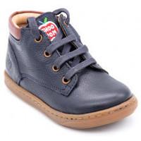 Chaussures Garçon Boots Shoo Pom boubazip desert Bleu