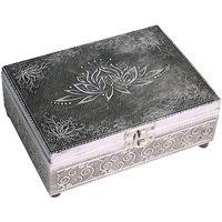 En vous inscrivant vous bénéficierez de tous nos bons plans en exclusivité Paniers, boites et corbeilles Zen Et Ethnique Boite aluminium Lotus argentée Argenté
