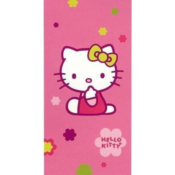 Maison & Déco Fille Serviettes et gants de toilette Hello Kitty Drap de bain Rose