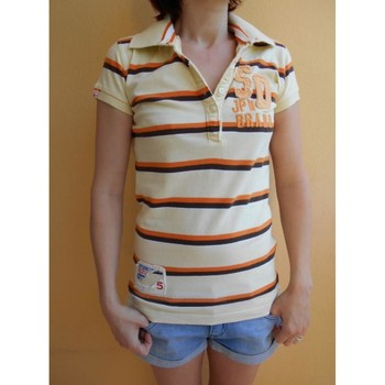 Vêtements Femme Polos manches courtes Superdry Polo - Tee shirt Superdry, Taille 36 Multicolore