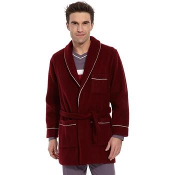 Vêtements Homme Pyjamas / Chemises de nuit Honcelac Veste d'intérieur maille courtelle unibordeaux