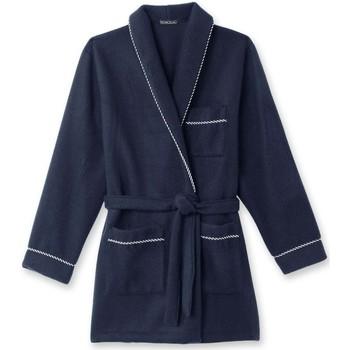 Vêtements Homme Pyjamas / Chemises de nuit Honcelac Veste d'intérieur maille courtelle unibleu