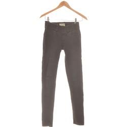 Vêtements Femme Pantalons Bershka Pantalon Droit Femme  36 - T1 - S Noir