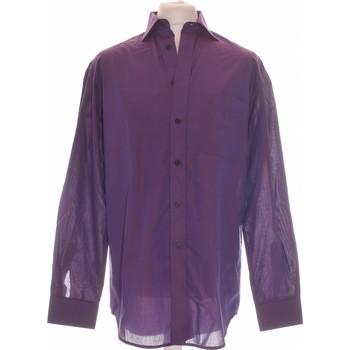 Vêtements Homme Chemises manches longues Balmain Chemise Manches Longues  42 - T4 - L/xl Violet