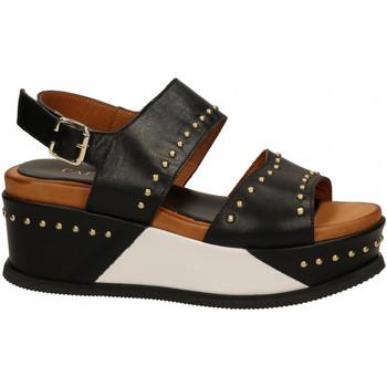 Chaussures Femme Sandales et Nu-pieds Café Noir SANDALO ZEPPA FRATE n001-nero