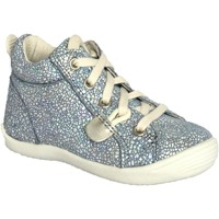 Chaussures Fille Baskets montantes Noel Mikid Bleu silver