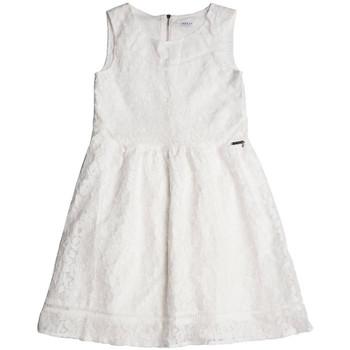 Vêtements Fille Robes courtes Guess Robe Fille Sans Manche Dentelle Blanc Blanc