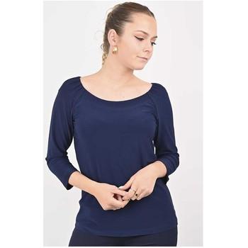 Vêtements Femme Tout accepter et fermer Georgedé Top Polly en Jersey Bleu Marine Bleu