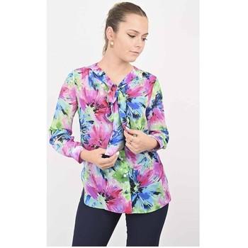 Vêtements Femme Chemises / Chemisiers Georgedé Chemise Scarlett en Mousseline Imprimée Multicolore Multicolore
