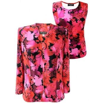 Vêtements Femme Costumes  Georgedé Twinset Léa Imprimé Top et Veste Rouge Multicolore