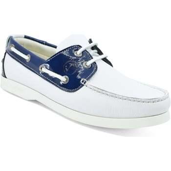 Chaussures Femme Chaussures bateau Seajure Chaussures Bateau Ffryes Bleu marine et blanc