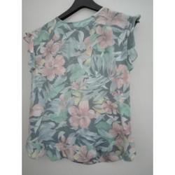 Vêtements Femme Tops / Blouses Mango Blouse fleurie Multicolore