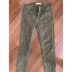 Vêtements Femme Jeans slim Zara Pantalon imprimé kaki Kaki