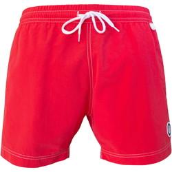 Vêtements Homme Maillots / Shorts de bain Les Loulous De La Plage Short de bain homme MONTAUK Uni Rouge