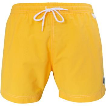 Vêtements Homme Maillots / Shorts de bain Les Loulous De La Plage Short de bain homme MONTAUK Uni Jaune