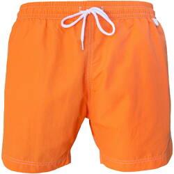 Vêtements Homme Maillots / Shorts de bain Les Loulous De La Plage Short de bain homme MONTAUK Uni Orange