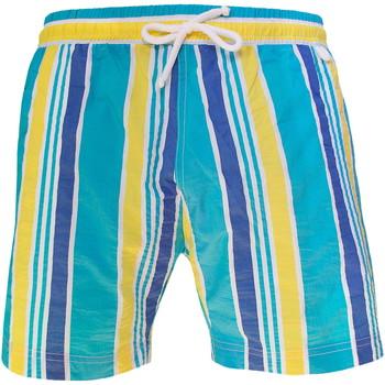 Vêtements Homme Maillots / Shorts de bain Les Loulous De La Plage Short de bain homme MONTAUK Multistrip Bleu