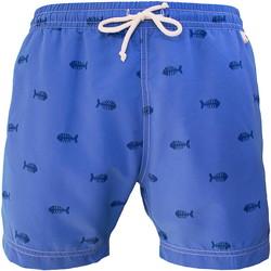 Vêtements Homme Maillots / Shorts de bain Les Loulous De La Plage Short de bain homme MONTAUK Marine fish Bleu