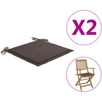 Maison & Déco Galettes de chaise VidaXL Coussin de chaise de jardin 40 x 40 x 4 cm Taupe