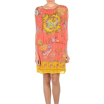 Vêtements Femme Robes courtes Derhy ACCORDABLE Rose/Jaune