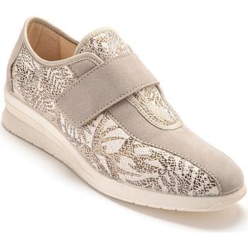 Chaussures Femme Derbies Pediconfort Derbies pieds sensibles imprimbeige