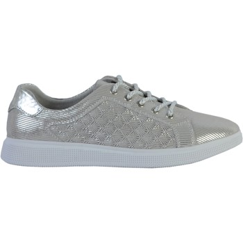Chaussures Femme Baskets basses Enza Nucci Tennis Cuir Argent