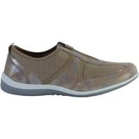 Chaussures Femme Derbies Enza Nucci Derby Confort Cuir Taupe