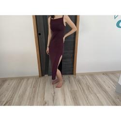 Vêtements Femme Robes longues Naf Naf Robe naf naf Bordeaux