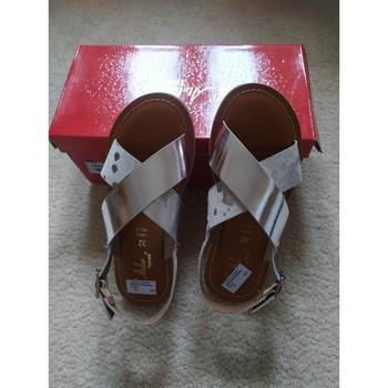 Chaussures Fille Sandales et Nu-pieds L'atelier Tropezien Sandales tropéziennes fille Argenté