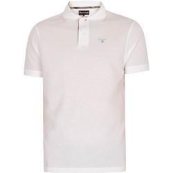 Vêtements Homme Polos manches courtes Barbour Polo en piqué tartan blanc