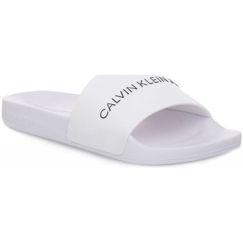 Chaussures Homme Mules Calvin Klein Jeans YAF SLIDE INSTITUTIONAL Bianco