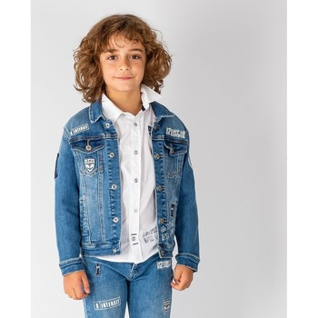 Vêtements Garçon Vestes en jean Interdit De Me Gronder LOOK Bleu