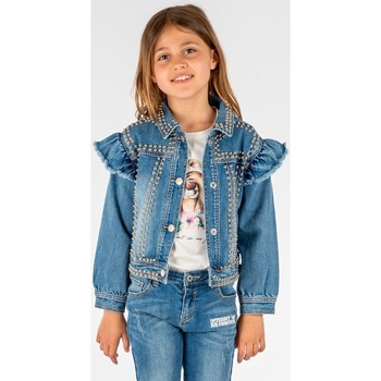 Vêtements Fille Vestes en jean Interdit De Me Gronder STRASSIMA Bleu