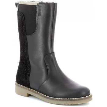 Chaussures Fille Bottes ville Kickers Ny Kraft NOIR