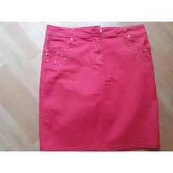 Vêtements Femme Jupes Jacqueline Riu jupe coloris framboise Rose