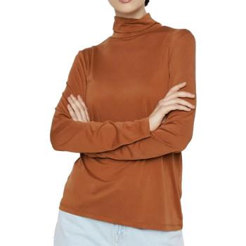 Vêtements Femme T-shirts manches longues Pieces 17106019 Marron