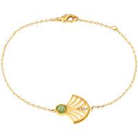 Montres & Bijoux Femme Bracelets Yucatan Bracelet  en Plaqué Or et Aventurine Jaune