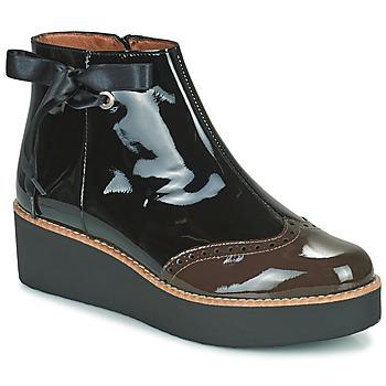 Chaussures Femme Boots Fericelli JANDICI Noir / Marron
