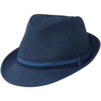 Accessoires textile Homme Chapeaux Chapeau-Tendance Chapeau trilby MONTORO T56 Bleu